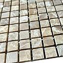 Мраморная мозаика Emperador Light D матовая МКР-4СВ (15x15), фото 3
