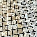 Мраморная мозаика Emperador Light D матовая МКР-4СВ (15x15), фото 6