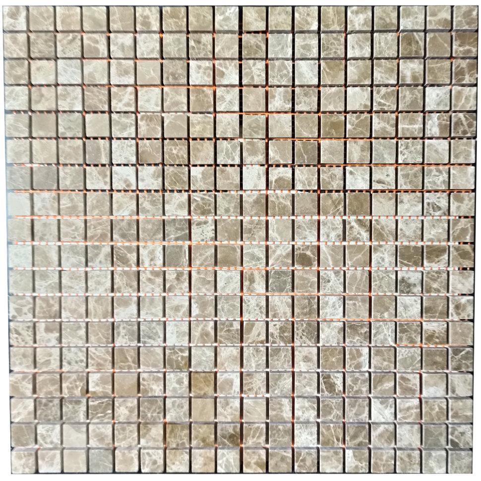 Мраморная мозаика Emperador Light D полированная МКР-4П (15x15)