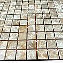 Мраморная мозаика Emperador Light D полированная МКР-4П (15x15), фото 3