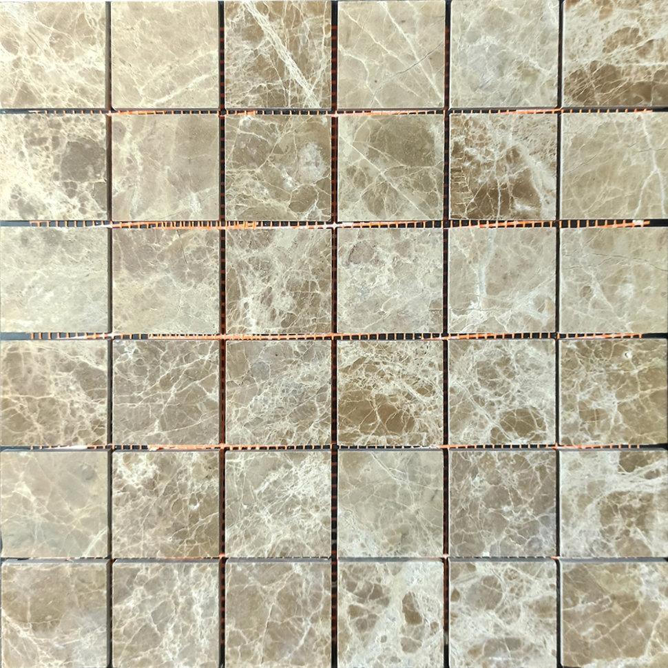 Мраморная мозаика Emperador Light D полированная МКР-3П (47x47)