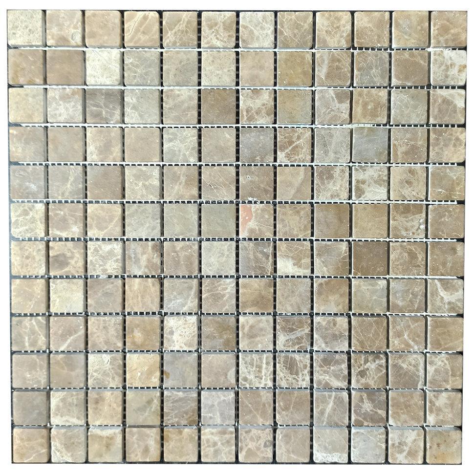 Мраморная мозаика Emperador Light D матовая МКР-2СВ (23x23)
