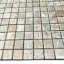 Мраморная мозаика Emperador Light D матовая МКР-2СВ (23x23), фото 3
