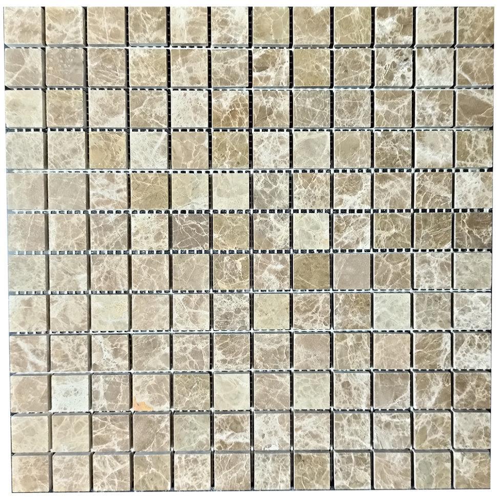 Мраморная мозаика Emperador Light D полированная МКР-2П (23x23)