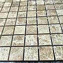 Мраморная мозаика Emperador Light D полированная МКР-2П (23x23), фото 3