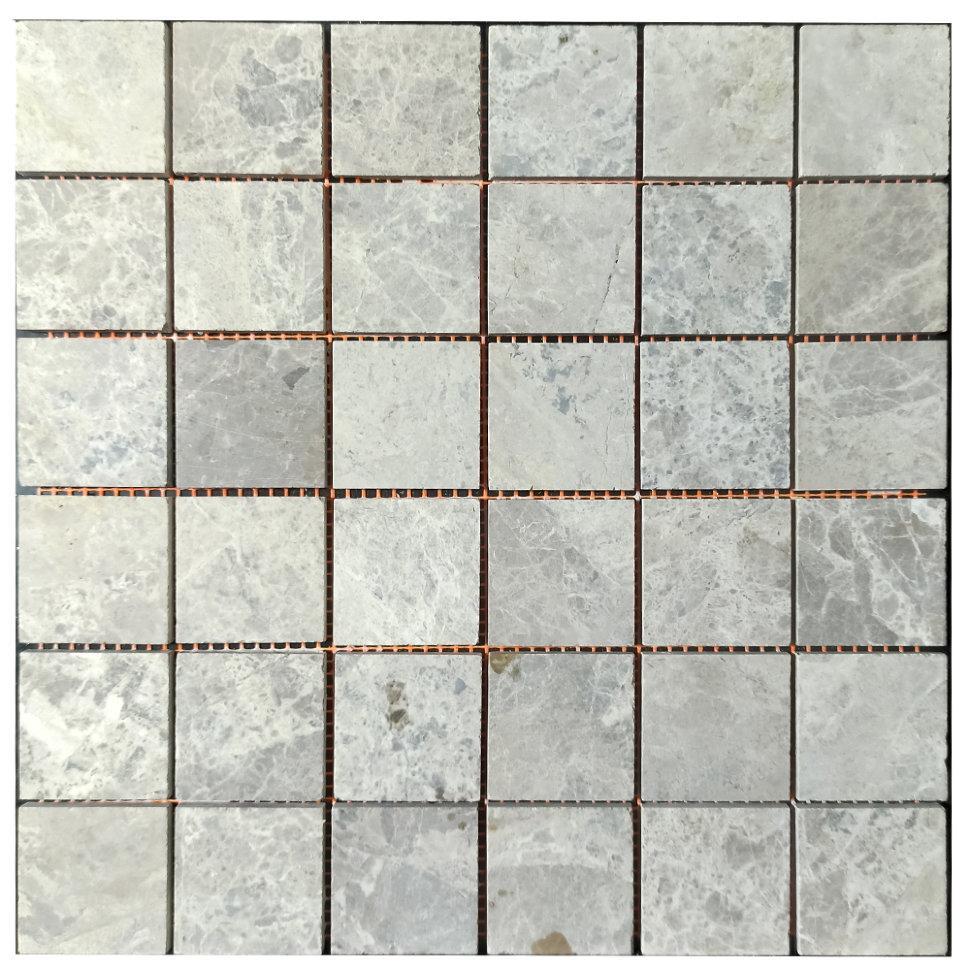 Мраморная мозаика Emperador Light G матовая МКР-3СН (47x47)
