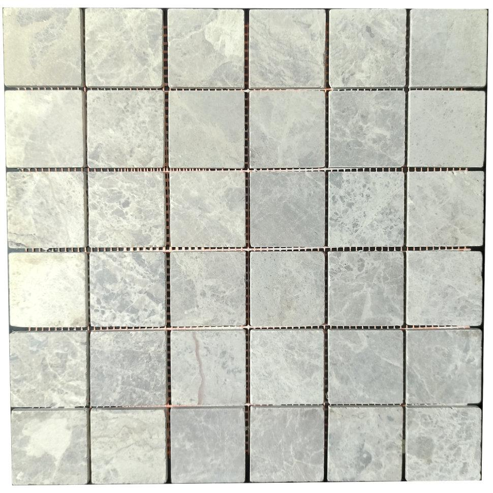 Мраморная мозаика Emperador Light G матовая МКР-3СВ (47x47)