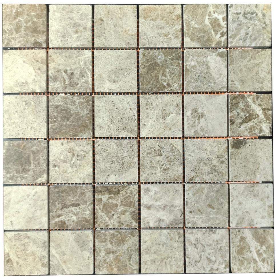 Мраморная мозаика Emperador Light G полированная МКР-3П (47x47)
