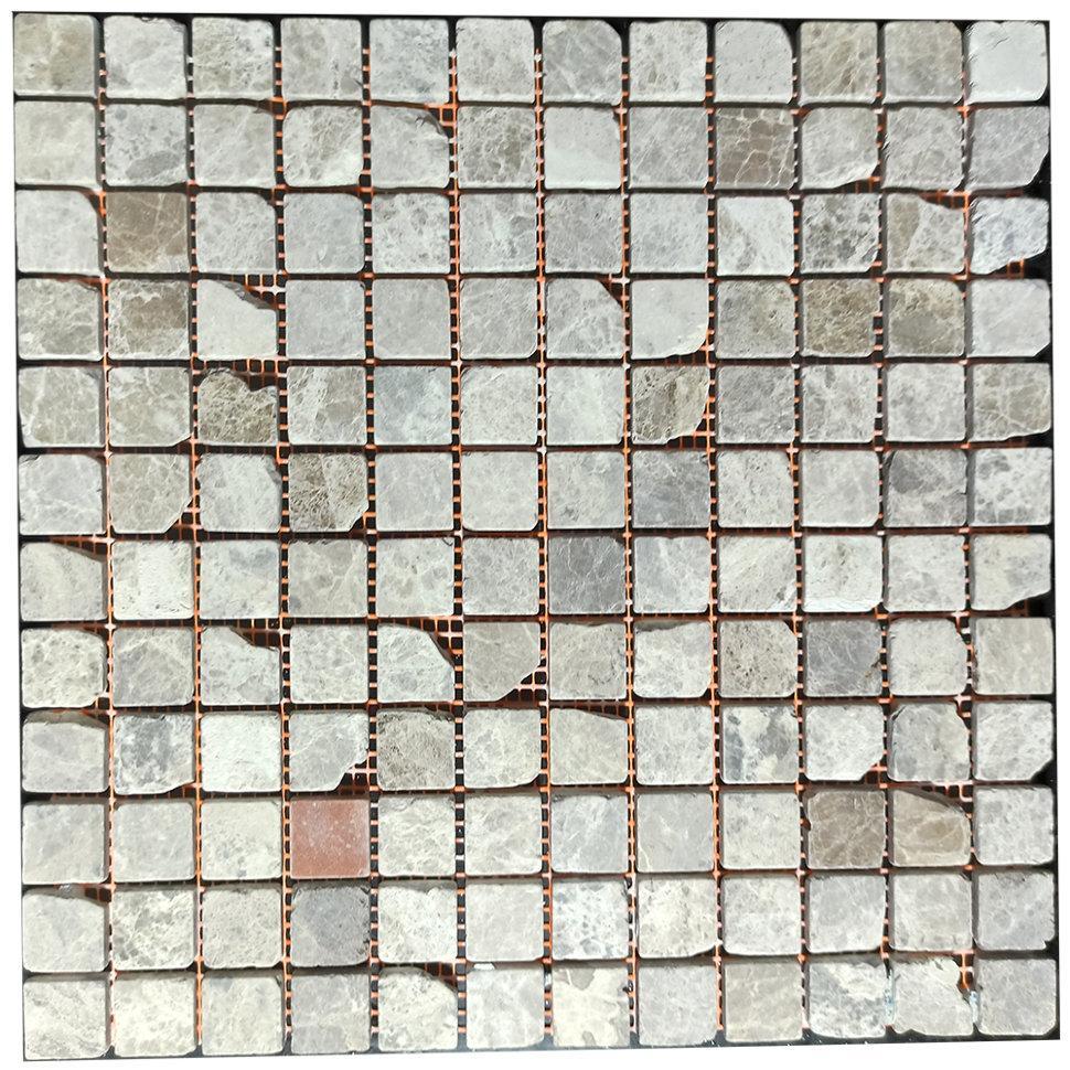 Мраморная мозаика Emperador Light G антик МКР-2СВА (23x23)