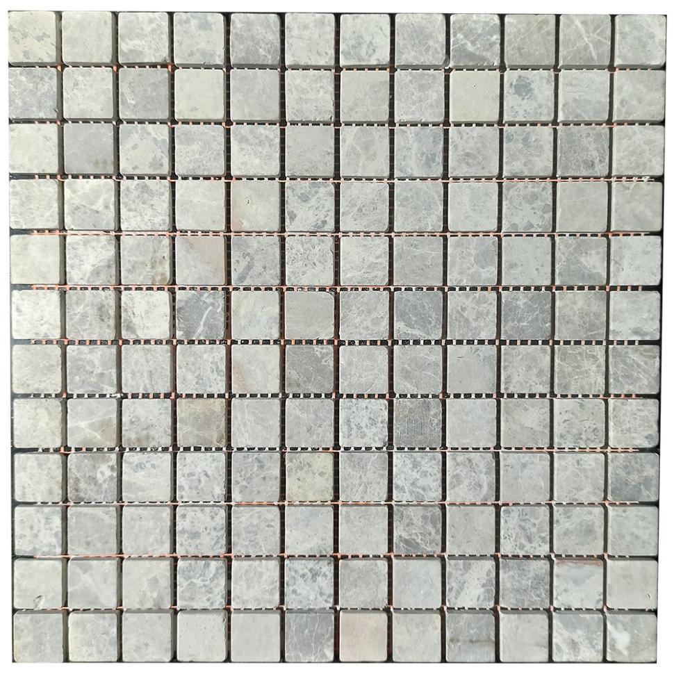 Мраморная мозаика Emperador Light G матовая МКР-2СВ (23x23)