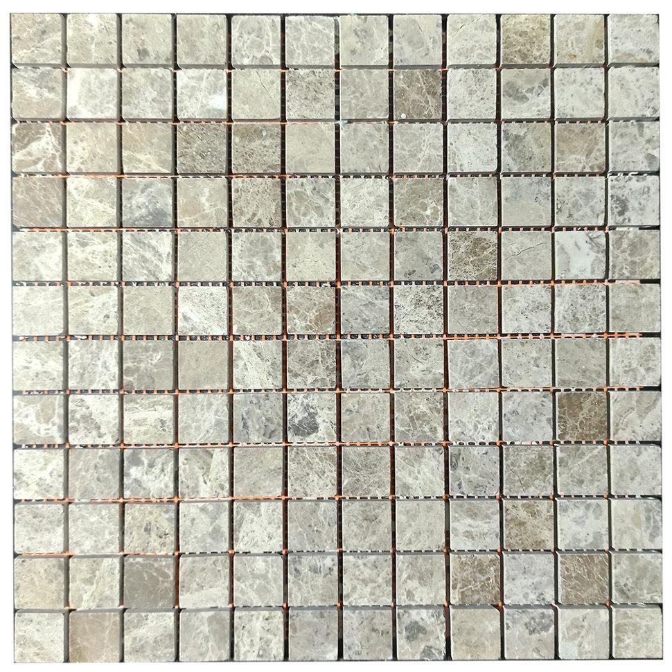 Мраморная мозаика Emperador Light G полированная МКР-2П (23x23)