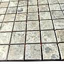 Мраморная мозаика Emperador Light G полированная МКР-2П (23x23), фото 3