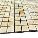 Мраморная мозаика Giallo Siena - Giallo Cleopatra - Giallo Atlantida МКР-4ПВ (15x15), фото 3