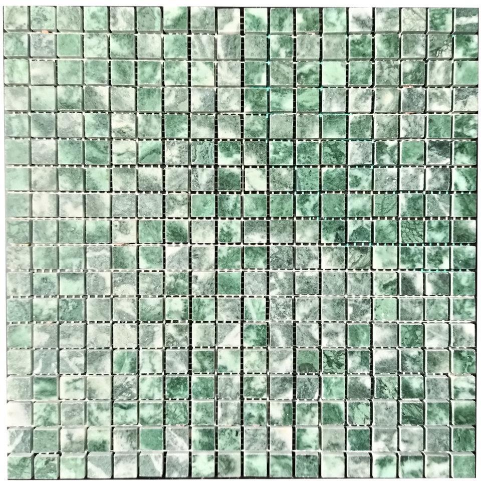 Мраморная мозаика Verde Guatemala полированная МКР-4П (15x15)