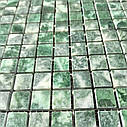 Мраморная мозаика Verde Guatemala полированная МКР-4П (15x15), фото 3