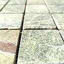 Мраморная мозаика Bidasar Green матовая МКР-3СВ (47x47), фото 3