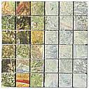 Мраморная мозаика Bidasar Green матовая МКР-3СВ (47x47), фото 4