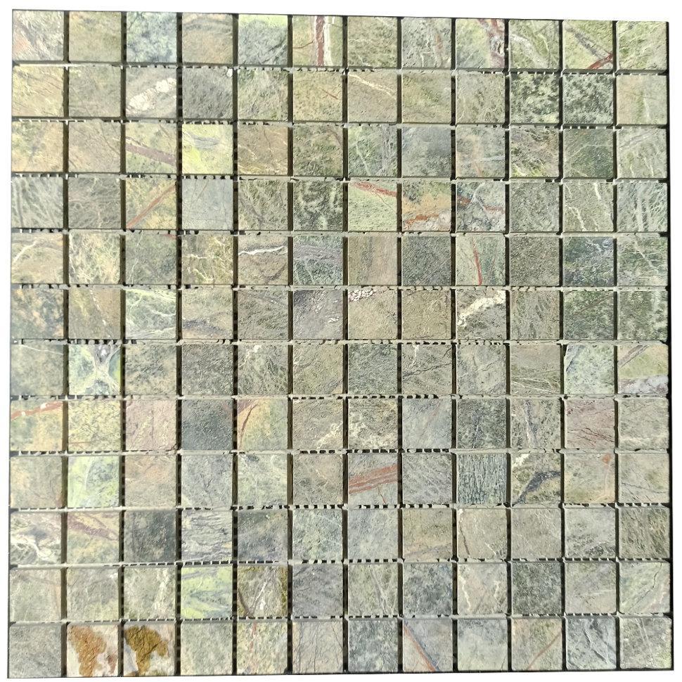Мраморная мозаика Bidasar Green матовая МКР-2СН (23x23)