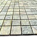 Мраморная мозаика Bidasar Green матовая МКР-2СН (23x23), фото 3