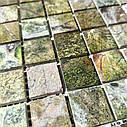 Мраморная мозаика Bidasar Green матовая МКР-2СН (23x23), фото 6