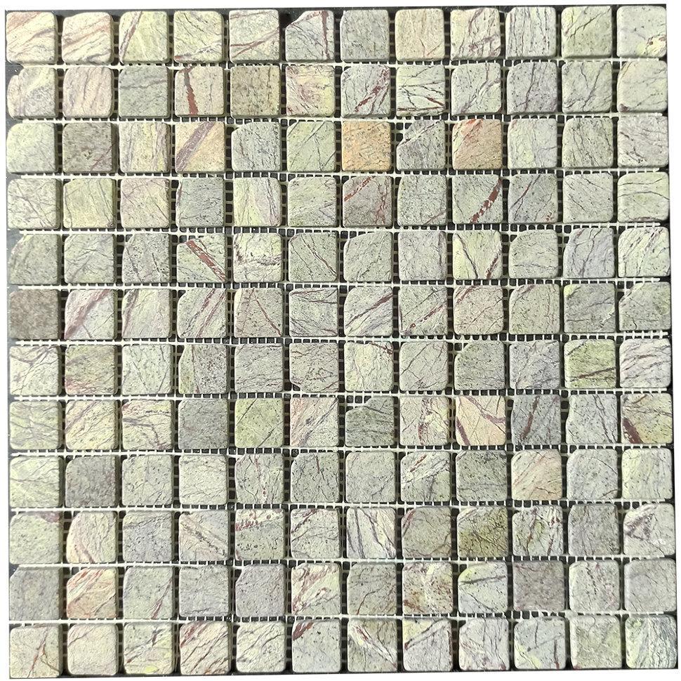 Мраморная мозаика Bidasar Green антик МКР-2СВА (23x23)