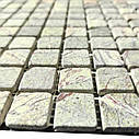 Мраморная мозаика Bidasar Green антик МКР-2СВА (23x23), фото 3