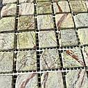 Мраморная мозаика Bidasar Green антик МКР-2СВА (23x23), фото 6