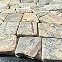 Мраморная мозаика Bidasar Brown матовая МКР-ХСВ (Хаотичная), фото 3