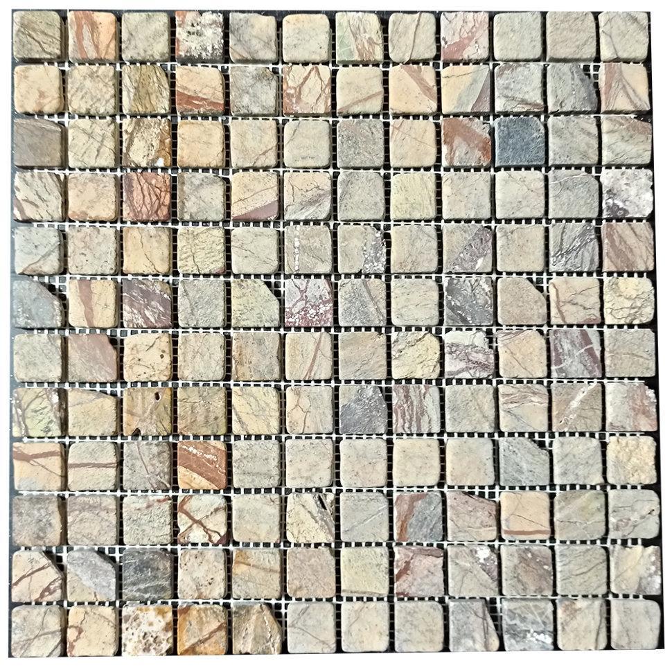 Мраморная мозаика Bidasar Brown антик МКР-2СВА (23x23)
