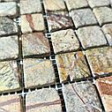 Мраморная мозаика Bidasar Brown антик МКР-2СВА (23x23), фото 3