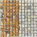 Мраморная мозаика Bidasar Brown антик МКР-2СВА (23x23), фото 4