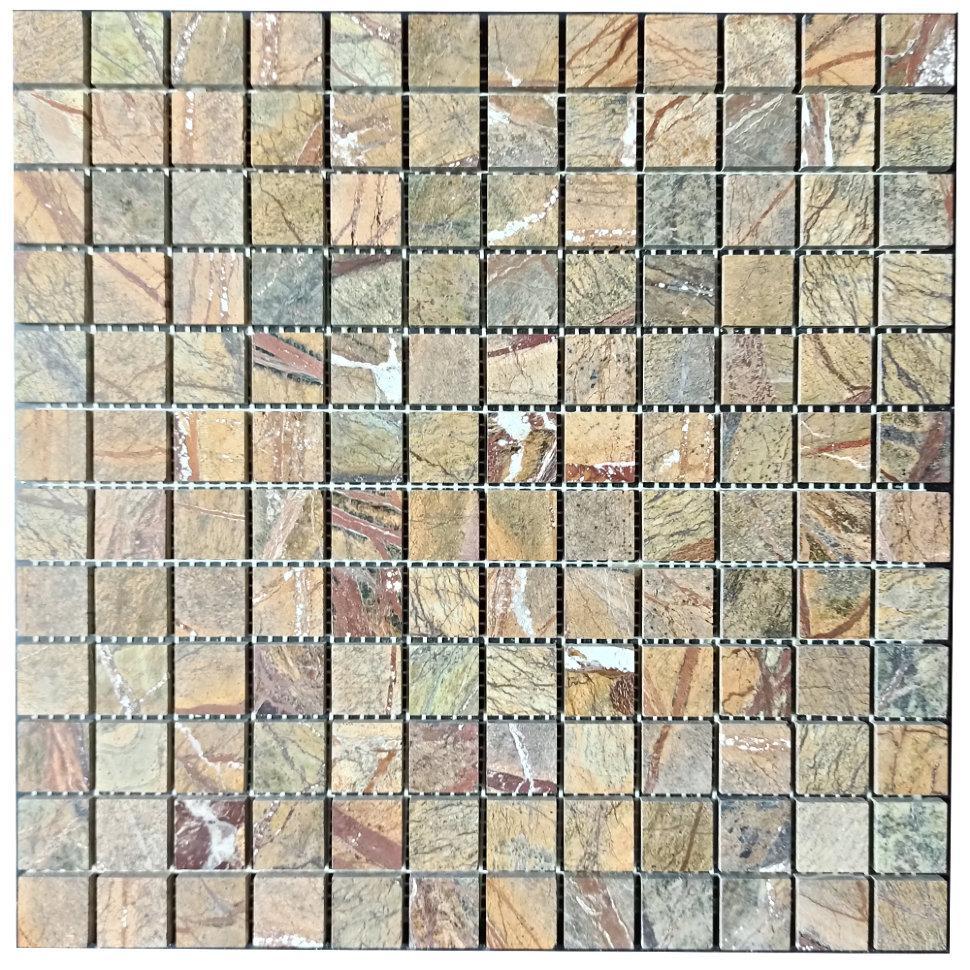Мраморная мозаика Bidasar Brown полированная МКР-2П (23x23)
