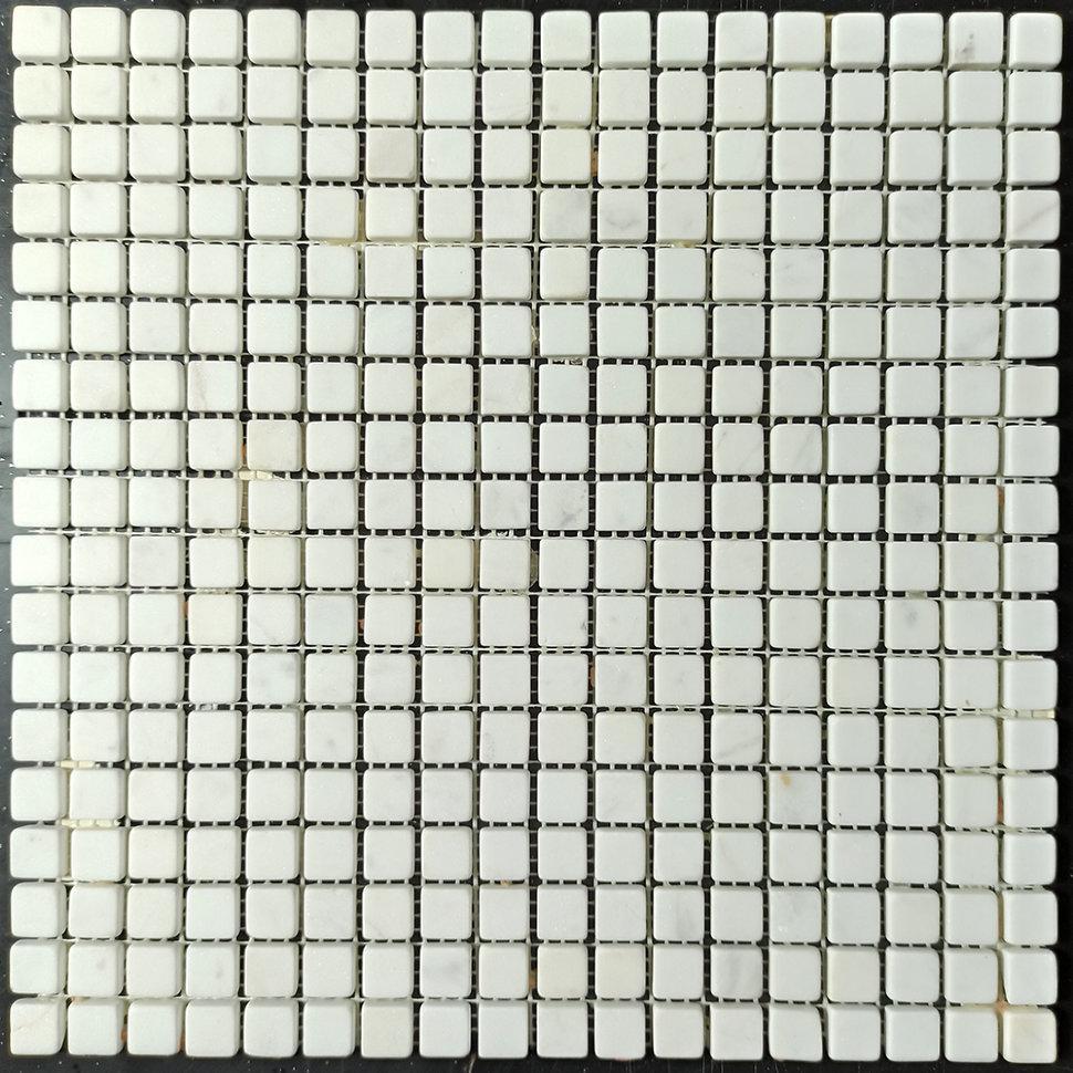 Thassos мозаика из мрамора матовая МКР-4СВ (15x15)