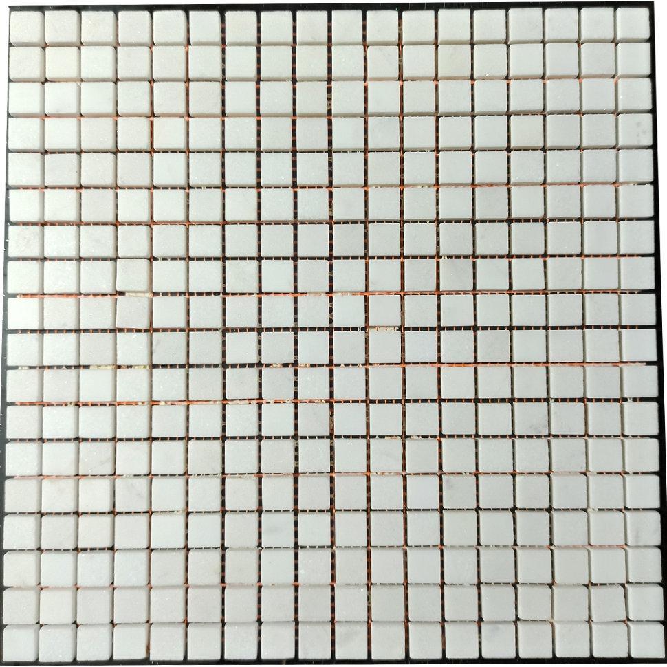 Thassos мозаика из мрамора полированная МКР-4П (15x15)