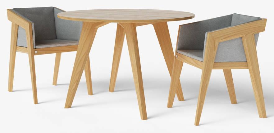 Стол обеденный Air 2 O d110 см натуральный TM Kint, фото 2