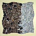 Emperador Dark мозаика из мрамора матовая МКР-ХСВ (Хаотичная), фото 4