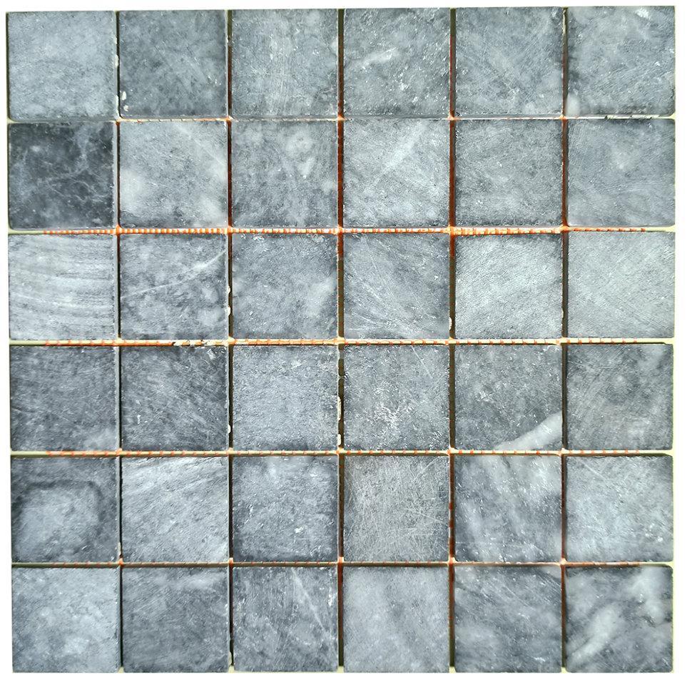 Тёмно-серая мозаика из мрамора антик МКР-3СН (47x47)