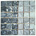Тёмно-серая мозаика из мрамора антик МКР-3СН (47x47), фото 4