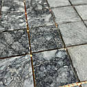 Тёмно-серая мозаика из мрамора антик МКР-3СН (47x47), фото 6