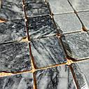 Тёмно-серая мозаика из мрамора антик МКР-3СВА (47x47), фото 6
