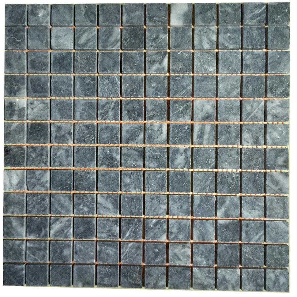 Тёмно-серая мозаика из мрамора матовая МКР-2СН (23x23)