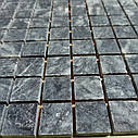 Тёмно-серая мозаика из мрамора матовая МКР-2СН (23x23), фото 3