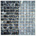 Тёмно-серая мозаика из мрамора матовая МКР-2СН (23x23), фото 4