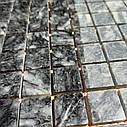 Тёмно-серая мозаика из мрамора матовая МКР-2СН (23x23), фото 6