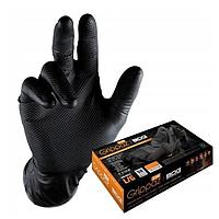 Перчатки нитриловые Mercator Medical Black Ideall® Grip