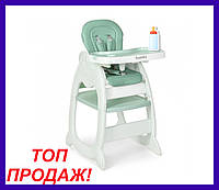 Детский стульчик для кормления M 3612-5, зеленый, стульчик-трансформер для кормления