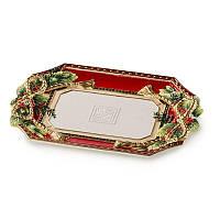 Блюдо Новогоднее Lamart, красное, 33 х 23 см