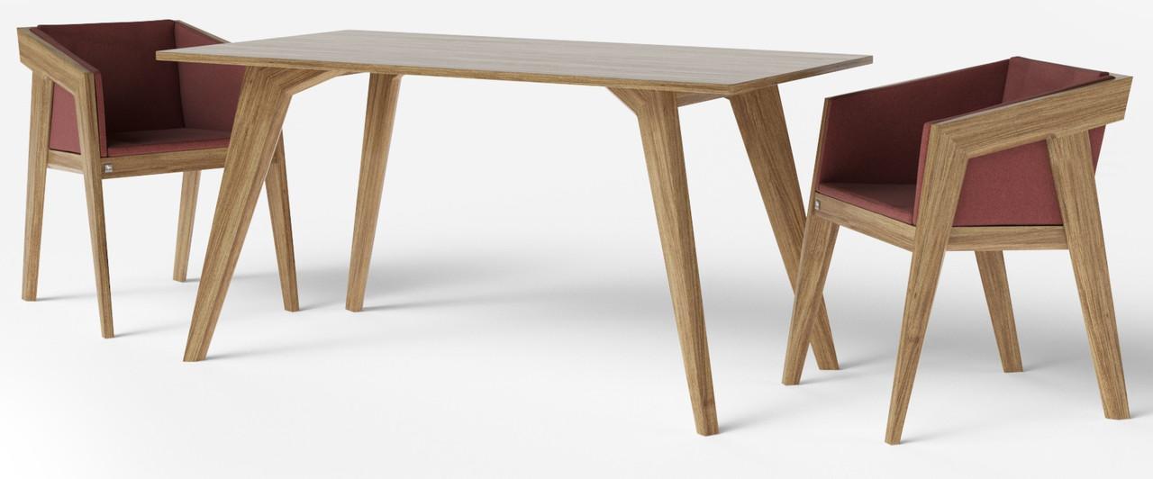 Стол обеденный Air 2 M 80*120 см светло-коричневый TM Kint