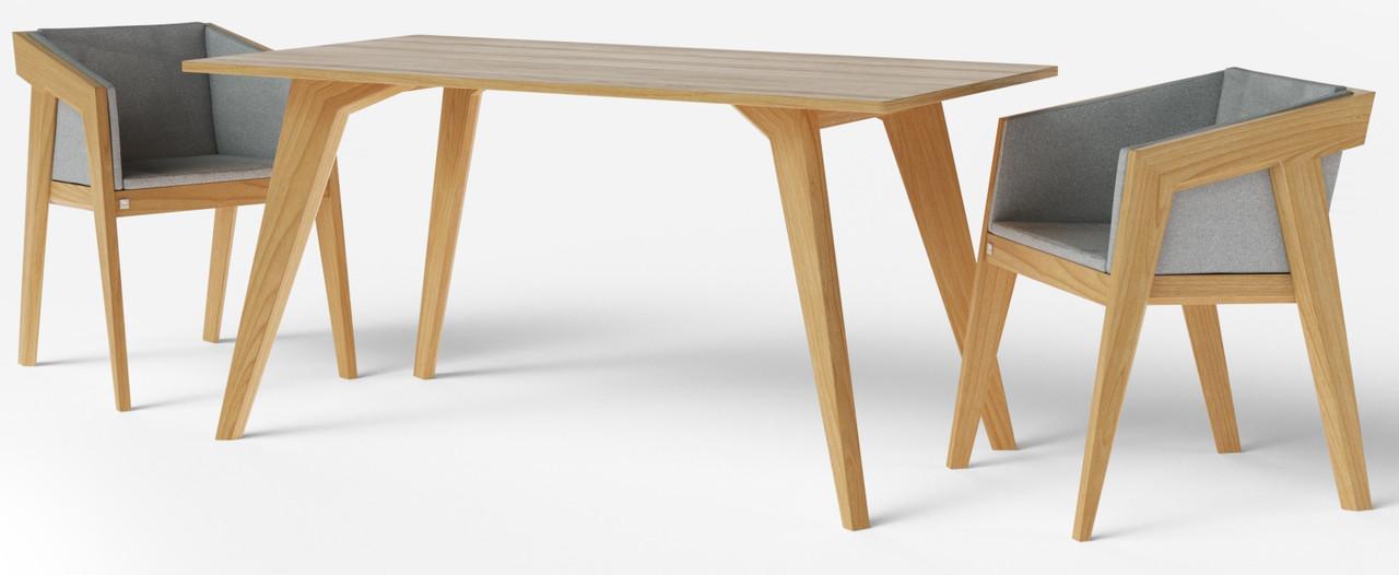 Стол обеденный Air 2 M 80*120 см натуральный TM Kint