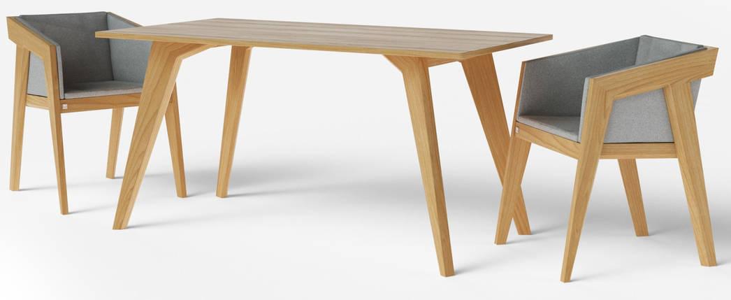 Стол обеденный Air 2 M 80*120 см натуральный TM Kint, фото 2